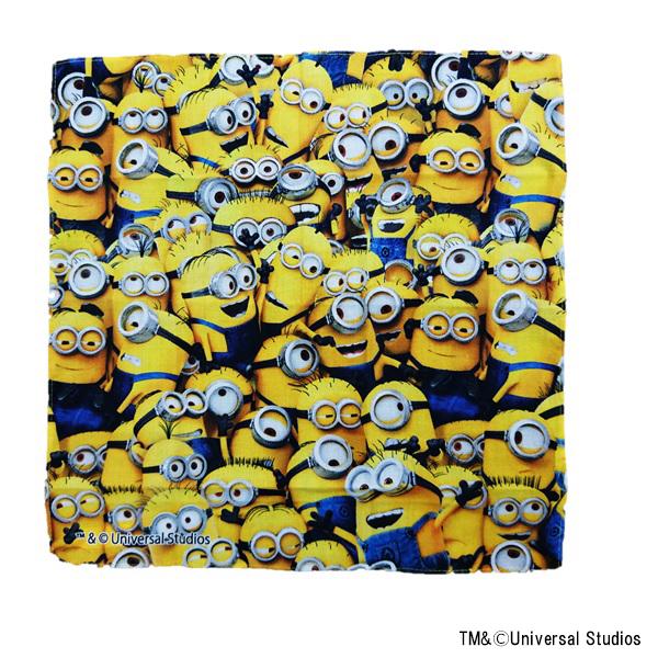 【早得】【予約】【新入学準備用品】【ミニオンズ】ハンカチーフ ミニオンズ メニーミニオンズ