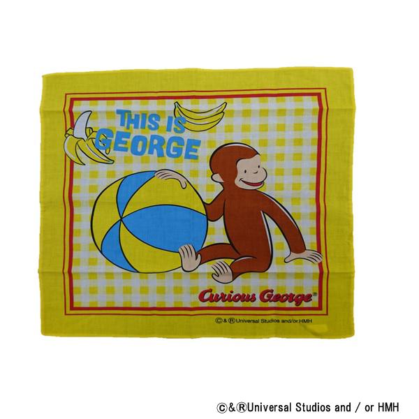 【早得】【予約】【新入学準備用品】【おさるのジョージ】ハンカチーフ ジョージ ディスイズジョージ