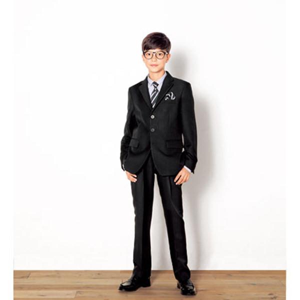 2e4c8de5b67d6 WANDER FACTORY グレーストライプ3釦スーツ ブラック 男の子 フォーマル 洋装男の子 1028822