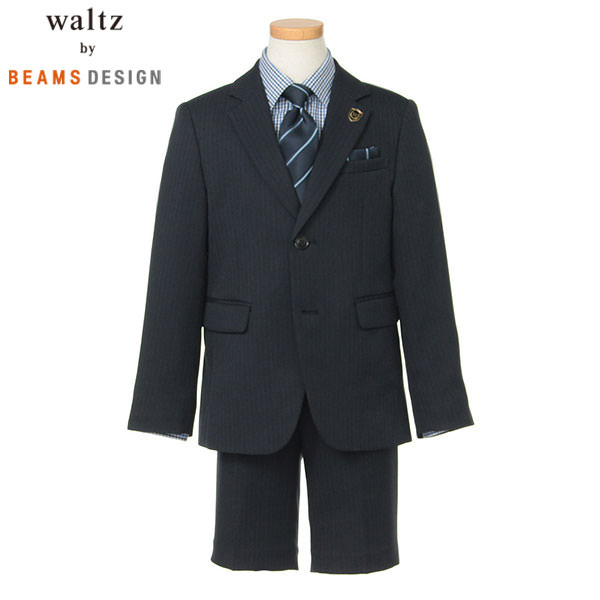 bfb2e469f31f0 ... ポイント10倍 SALE. Waltz by BEAMS DESIGN Waltz2ツ釦JKスーツB体 コン 男の子 入学 スーツ 3901