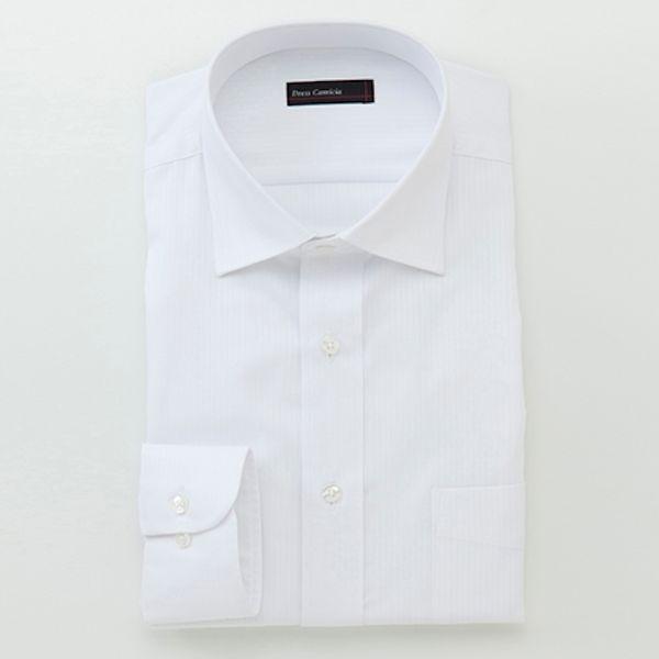 【形態安定・防汚加工】スリム長袖ドレスシャツ(メンズ)