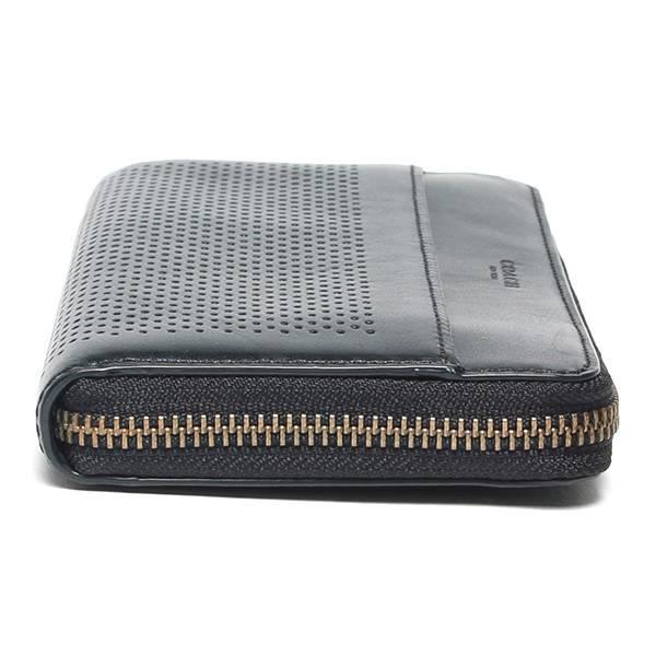 new style 55a44 c2ab0 コーチ COACH ラウンドファスナー長財布 F75222 ブラック メンズ ...