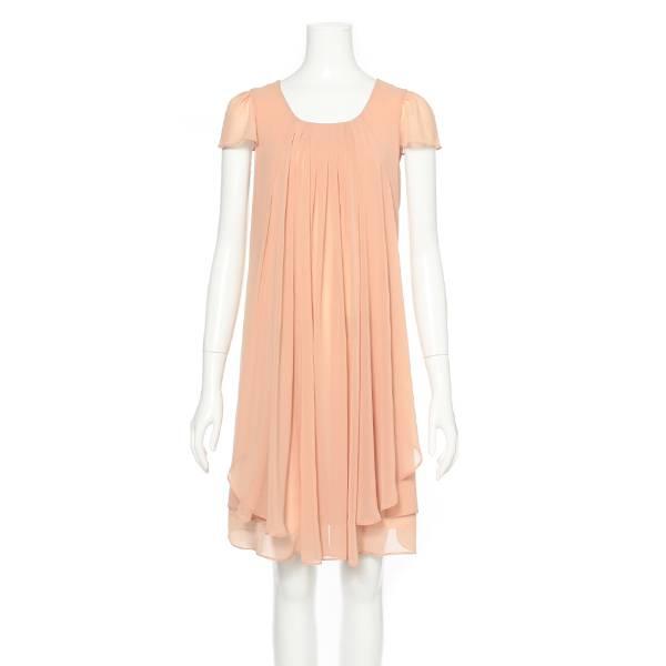 タックレイヤードドレス(レディース) ベージュ