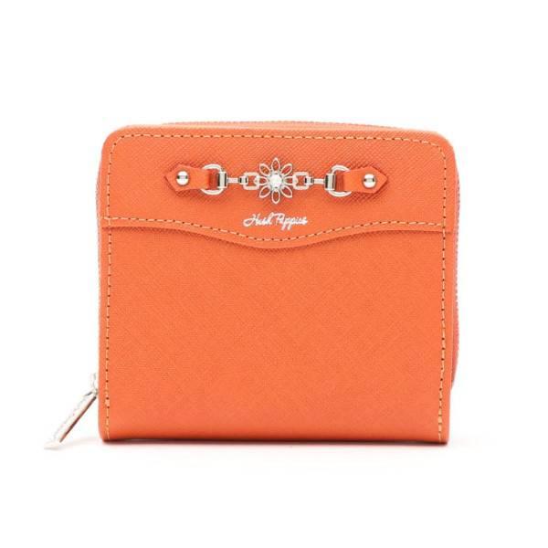 【ハッシュパピー】2つ折り財布(レディース) オレンジ