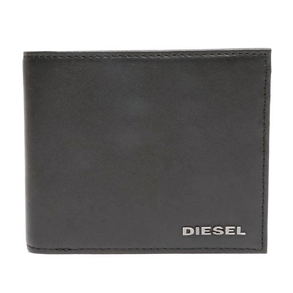 【ディーゼル】2つ折り財布(メンズ) ブラック
