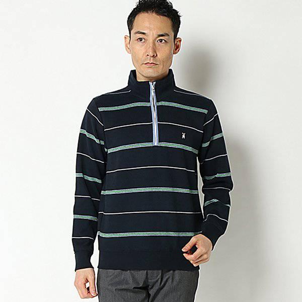【マクベス】ボーダージップトレーナー(メンズ) コイアオ
