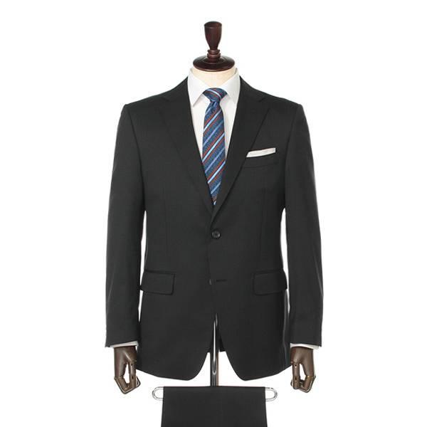 SALE ストレッチアジャスター付きスーツ(メンズ) クロ