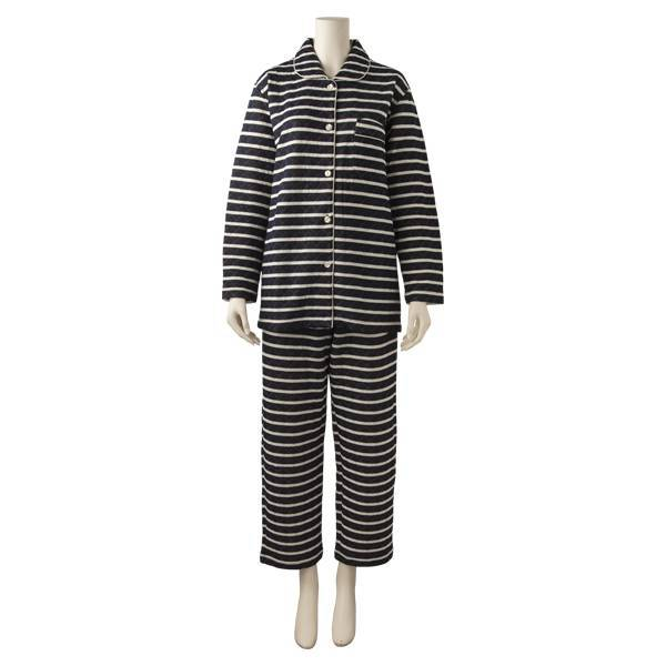 キルトボーダーシャツパジャマ(レディース) コイアオ