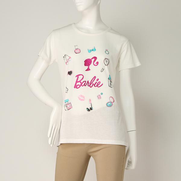 【Barbie】半袖Tシャツ(レディース) シロ