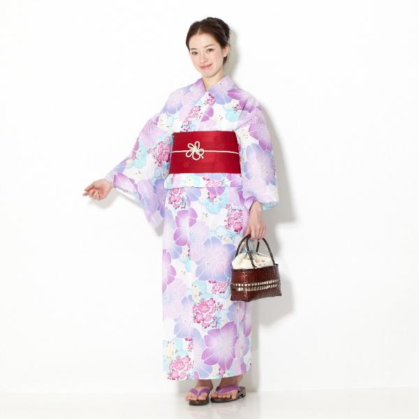 婦人ゆかた 大桜 ラベンダー(レディース)