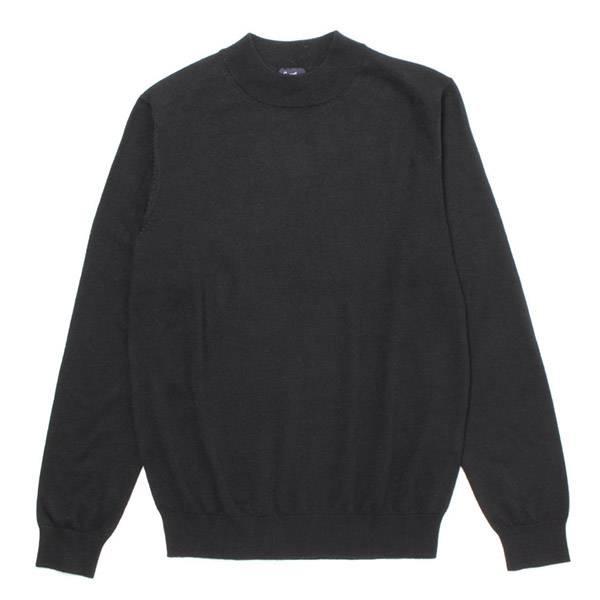 SALE ウォッシャブルハイネックセーター(メンズ) クロ
