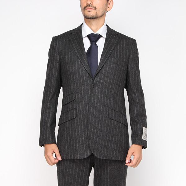 【ターン】フランネルスーツ(メンズ) グレー