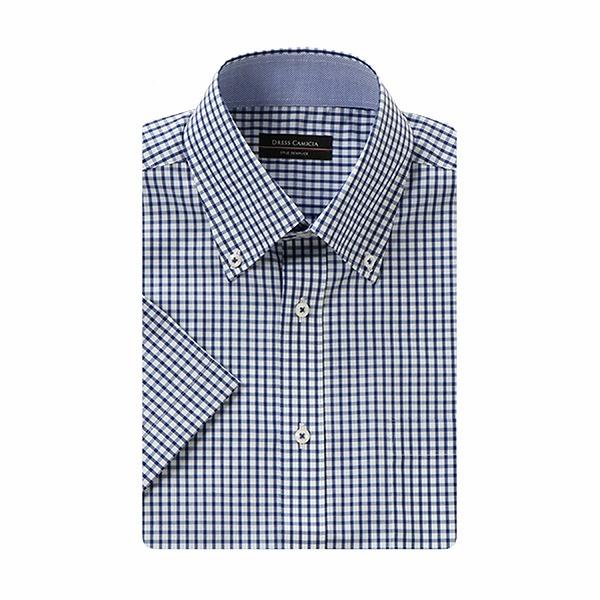 4c4050bc8ae88 夏サラ超形態安定クールマックス半袖スリムドレスシャツ(メンズ)